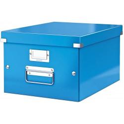 Střední archivační krabice Leitz Click & Store, formát A4, modrá