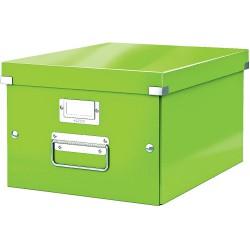 Střední archivační krabice Leitz Click & Store, metalická zelená
