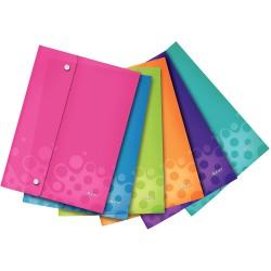 Závěsné kapsy s uzavíráním na druk Leitz WOW A4, mix barev 6 ks