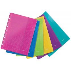Závěsné kapsy s uzavíráním na suchý zip Leitz WOW A4, mix barev 6 ks