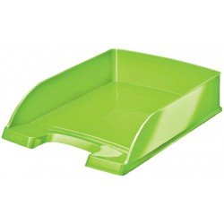 Odkladač Leitz WOW Plus, metalická zelená