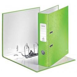 Pákový pořadač Leitz 180° WOW, metalická zelená, šíře hřbetu 80 mm