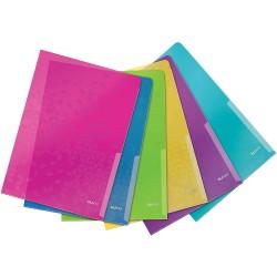"Zakládací obaly ""L"" Leitz WOW A4, mix barev 6 ks"