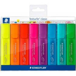 STAEDTLER zvýrazňovač Textsurfer Classic 364 sada 8 ks reflexních barev