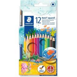 Staedtler šestihranné pastelky akvarelové se štětcem Noris Club 144, sada 12 ks