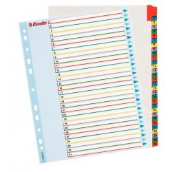 Kartonové rejstříky Esselte Mylar s přepisovatelným předním listem, A4 Maxi, 1-31 barevných listů
