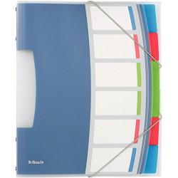Esselte Vivida, Třídicí desky transparentní A4, 6 částí, plast