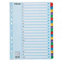 Zesílené kartonové rejstříky A4 Esselte Mylar, A - Z barevné dělící listy