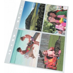 Závěsné plastové foto kapsy Esselte 10x15, 10ks