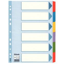 Zesílené kartonové rozlišovače Esselte Mylar A4, 1-6 barev