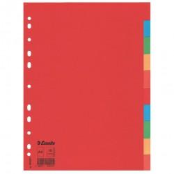 Kartonové barevné rozlišovače A4 Esselte Economy, 10 barevných listů