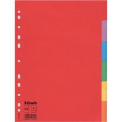 Kartonové barevné rozlišovače A4 Esselte Economy, 6 barevných listů