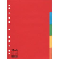 Kartonové barevné rozlišovače A4 Esselte Economy, 5 barevných listů