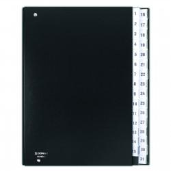 Třídící kniha černá, číselná 1-31