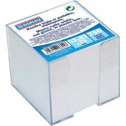Donau poznámkové bločky bílé nelepené, 800 listů v plastovém stojánku, 90x90
