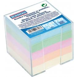 Donau poznámkové bločky pastelové barvy nelepené, 750 listů v plastovém stojánku, 83x83