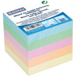 Donau poznámkové bločky pastelové barvy nelepené, 750 listů, 83x83 mm