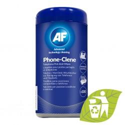 AF Phone-Clene, Čistící hygienické ubrousky na stolní telefony, 100ks