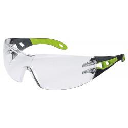 UVEX, ochranné brýle Pheos, limetkovo-černá barva, čirá skla