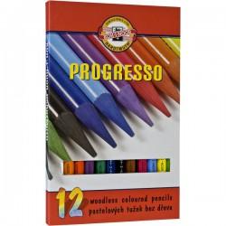 KOH-I-NOOR 8756, souprava tužek pastelových v laku Progresso, 12 barev