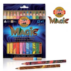 KOH-I-NOOR 3408, souprava trojhraných pastelek MAGIC 12+1
