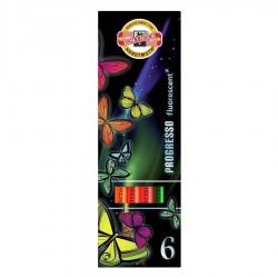 KOH-I-NOOR 8741, souprava tužek pastelových v laku Progresso fluorescent, 6 barev