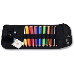 KOH-I-NOOR 3824, souprava uměleckých pastelek Polycolor, 24 barev v rolovacím penálu