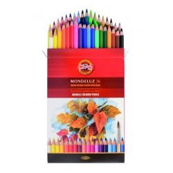 KOH-I-NOOR 3719, souprava pastelek akvarelových Mondeluz, 36 barev, papírová krabička