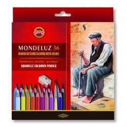 KOH-I-NOOR 3712, souprava pastelek akvarelových Mondeluz, 36 barev