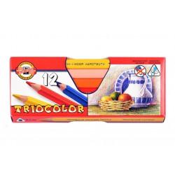 KOH-I-NOOR 3152, souprava pastelek trojhranných Triocolor lakovaných, 12 barev