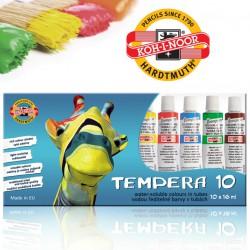 KOH-I-NOOR sada 10ks temperových barev, tuby 16 ml