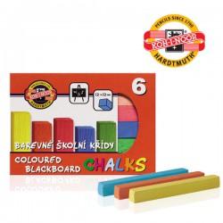 KOH-I-NOOR 112505, barevná křída školní, 6ks v krabičce