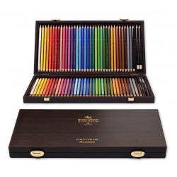 KOH-I-NOOR sada uměleckých pastelek Polycolor a Mondeluz 8896, dřevěná kazeta 72 barev