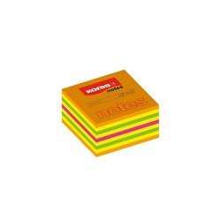 Kores lepící neonové bločky Cubo Summer 50x50 mm, 400 lístků