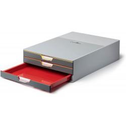 Durable 7603, úložný box na stůl VARICOLOR, 3 zásuvky
