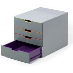Durable 7604, úložný box na stůl VARICOLOR 4 zásuvky