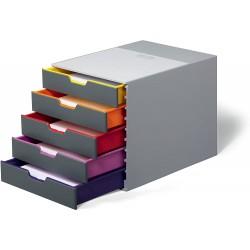 Durable 7605, úložný box na stůl VARICOLOR 5 zásuvek