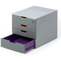 Durable 7606, úložný box na stůl VARICOLOR SAFE 4 zásuvky, uzamykatelný