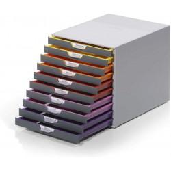 Durable 7610, úložný box na stůl VARICOLOR 10 zásuvek