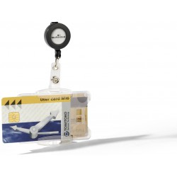 Durable 8219, Dvojité pouzdro na ID karty s rolosystémem 54x85 mm