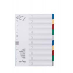 DURABLE 6740, Rozdružovač A4 s barevnými rozlišovači 1-10, mix 2x5 barev