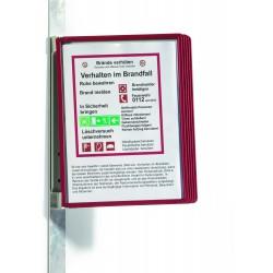 Durable 5914, VARIO MAGNET Wall 5, nástěnný držák s 5 rámečky, červený