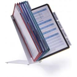 Durable 5570, VARIO TABLE 10, stolní displej A4 s 10 rámečky, mix barev