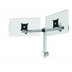 Durable 5085, držák pro uchycení 2 plochých monitoru, stolní svorka
