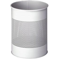 Durable 3310, kovový odpadkový koš 15 litrů kulatý s perforací, šedý
