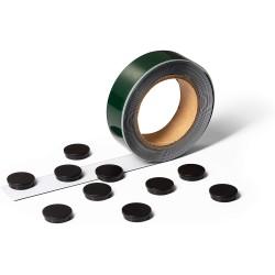 Durable 1717, Samolepicí kovová páska s 10 magnety, šířka pásky 35 mm