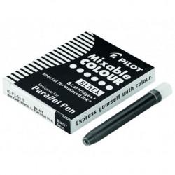 Inkoustové mini bombičky Parallel Pen do kaligrafických per, černé, 6ks