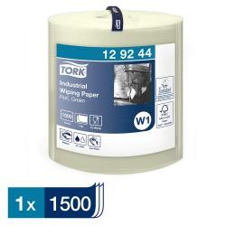 Tork 129244 průmyslová papírová utěrka v roli zelená, 1500 útržků, W1