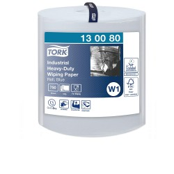 Tork Heavy-Duty 130080 průmyslová papírová utěrka modrá, 750 útržků, W1