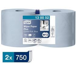 Tork 130052 papírová utěrka Plus - malá kombi role modrá, návin 255 m, balení 2 role